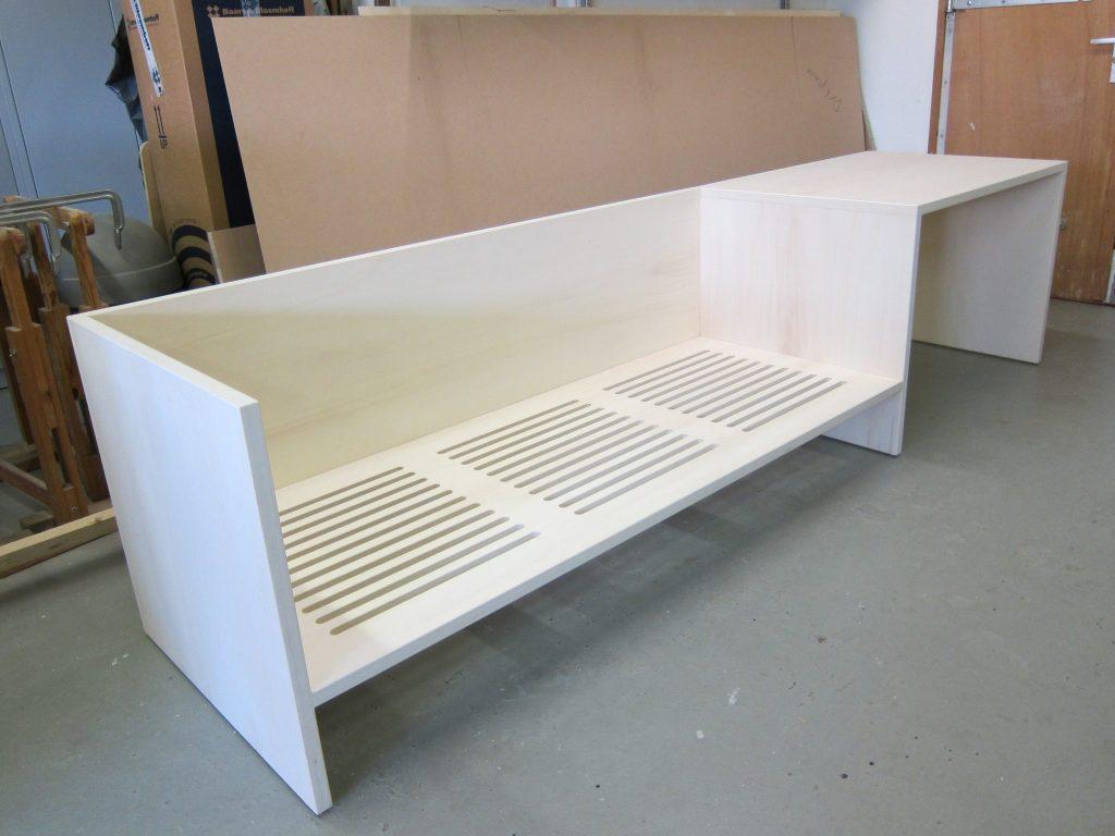 Het bed is uitgevoerd in 25 mm. ecoplex