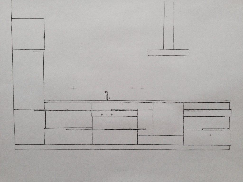 Het eerste schetsontwerp voor deze keuken was meteen het ideaal waar de opdrachtgevers zich in konden vinden