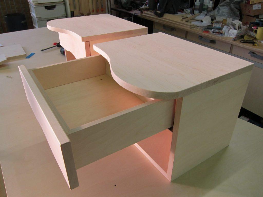 Materiaal massief esdoorn afgewerkt met houtolie